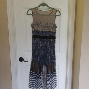 Audrina bcbg pleated midi dress